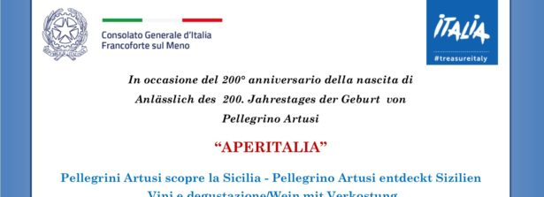 """""""AperItalia a Francoforte: Pellegrino Artusi scopre la Sicilia"""""""