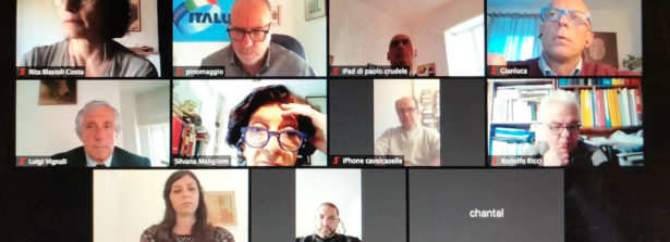 Comitato di Presidenza riunito in videoconferenza con il direttore generale della Dgiepm Vignali, il direttore Crudele e i consiglieri Cavalcaselle,  De Vita e Nobili