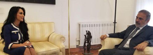 La senatrice Francesca Alderisi (Fi, ripartizione America settentrionale e centrale) incontra il Sottosegretario agli Esteri Ricardo Merlo