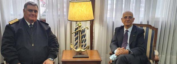 L'Ambasciatore d'Italia a Montevideo Giovanni Iannuzzi incontra il Comandante in Capo della Marina Uruguaiana