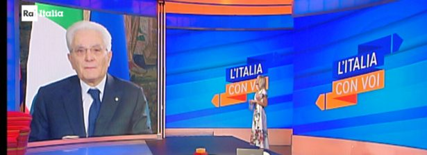 """""""L'Italia con Voi"""" di sabato 25 luglio : il Presidente Mattarella in video messaggio parlerà dell'emergenza di questi mesi vissuta dagli italiani lontani"""