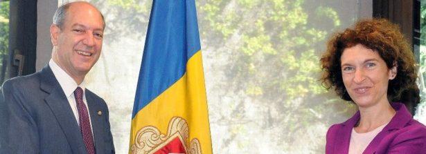 L'ambasciatore d'Italia a Madrid Riccardo Guariglia ha incontrato il ministro degli Esteri di Andorra, Maria Ubach Font