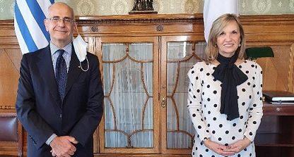 Uruguay: incontro dell'ambasciatore d'Italia Giovanni Iannuzzi con la vice presidente Beatriz Argimon