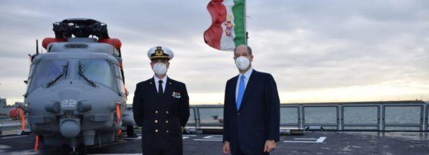 Rota: visita Ambasciatore d'Italia in Spagna Guariglia alla Fregata Martinengo in rientro da missione antipirateria