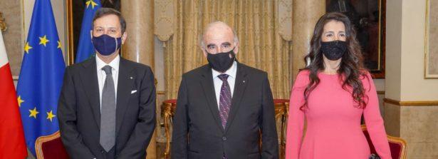 Malta, cerimonia di presentazione del nuovo Ambasciatore italiano al Presidente della Repubblica George Vella