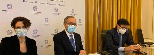 L'Ambasciatore d'Italia a Mosca Terracciano in videoconferenza con la comunità imprenditoriale italiana in Russia