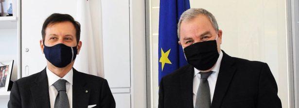 L'ambasciatore d'Italia a Malta Fabrizio Romano in visita di cortesia al presidente del Parlamento Angelo Farrugia