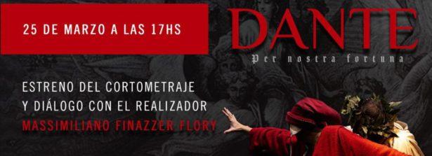 """L'Ambasciata d'Italia a Buenos Aires presenta domani il cortometraggio """"Dante per nostra fortuna"""""""