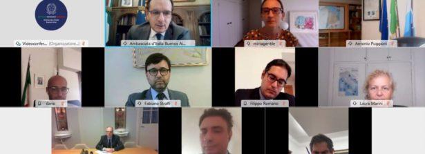 Si è svolta nei giorni scorsi una video conferenza delle rete consolare italiana in Argentina
