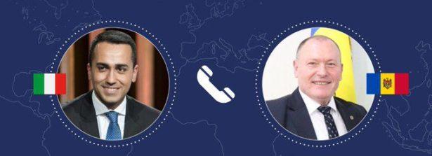 Colloquio telefonico del Ministro Di Maio con il Primo Ministro a.i. e Ministro degli Affari Esteri moldavo Aureliu Ciocoi