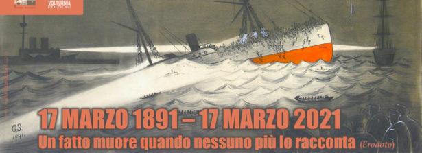 Il 17 marzo la presentazione online di una ricerca sul naufragio del piroscafo Utopia, partito da Napoli e diretto a New York, su cui viaggiavano 813 persone