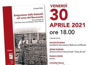 """Il 30 aprile la presentazione online del libro """"Emigrazione dalle Dolomiti nel corso del Novecento"""""""