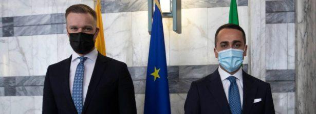 Incontro di Di Maio con il Ministro degli Esteri lituano, Gabrielius Landsbergis
