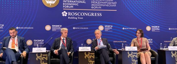 """L'Ambasciatore a Mosca Terracciano al panel """"Codici Culturali nella Nuova Realtà"""""""