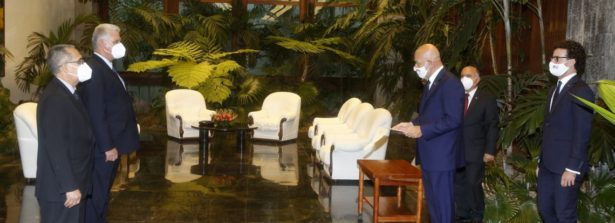 L'Avana: il nuovo Ambasciatore d'Italia Roberto Vellano ha presentato le credenziali al Presidente Diaz- Canel