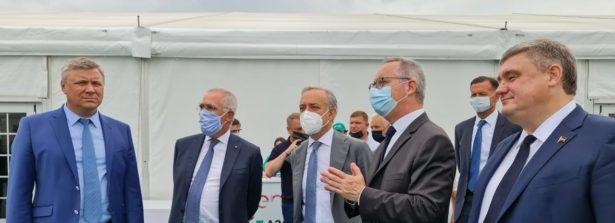 Russia, cerimonia per la messa in esercizio di un nuovo parco eolico di ENEL ad Azov