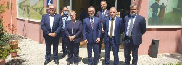 L'Ambasciatore a Tirana Fabrizio Bucci in visita all'Accademica di Sicurezza
