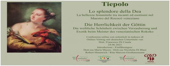 Istituti Italiani di Cultura di Colonia e Amburgo, Tiepolo: Lo splendore della Dea