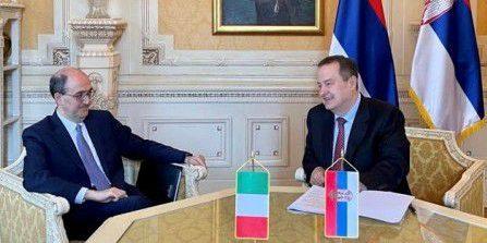 Incontro dell'Ambasciatore Lo Cascio con il Presidente dell'Assemblea Nazionale della Serbia Dacic