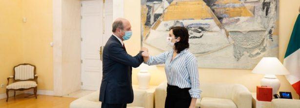 Incontro dell'Ambasciatore d'Italia Guariglia con la Presidente della Comunidad de Madrid