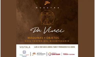 """""""Da Vinci, Macchine e oggetti"""", al Teatro del Bicentenario di San Juan, Argentina"""