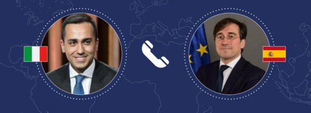 Colloquio telefonico del Ministro Di Maio con il Ministro degli Affari Esteri spagnolo, José Manuel Albares