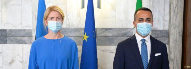 Il Ministro Luigi Di Maio incontra alla Farnesina la Ministra degli Esteri di Estonia, Eva-Maria Limets