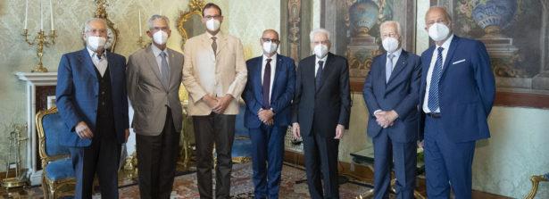 Il presidente della Repubblica Sergio Mattarella ha accolto al Quirinale una delegazione di rappresentanti delle Associazioni degli esuli istriani, fiumani e dalmati