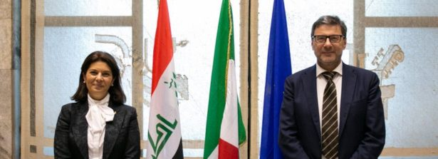 Il ministro Giancarlo Giorgetti incontra il ministro iracheno Suha Dawood Najjar