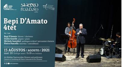 Il 13 agosto a Istanbul: concerto in streaming di Bepi D'Amato Quartet