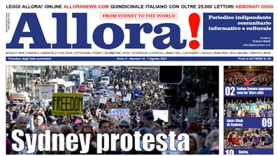 """È in edicola """"Allora!"""" del 1° agosto 2021, notiziario per la collettività italiana di Sydney"""