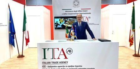 """L'ambasciatore d'Italia a Belgrado, Carlo Lo Cascio ha visitato il """"Padiglione Italia"""" alla Fiera Internazionale dell'Agricoltura di Novi Sad"""
