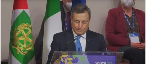"""L'intervento del Presidente del Consiglio Draghi, oggi a Milano Congressi, all'evento """"Youth4Climate: Driving Ambition"""""""