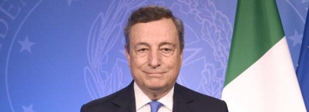 Il Presidente del Consiglio Draghi incontra a Brdo in Slovenia il Presidente francese Macron