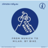 I giovani da Monaco di Baviera a Milano in bici in vista della COP26