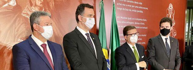 I Presidenti di Senato e Camera e l'Ambasciatore d'Italia Azzarello inaugurano la mostra su Dante al Congresso Brasiliano