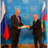Il nuovo ambasciatore d'Italia a Mosca, Giorgio Starace, ha presentato le lettere credenziali al vice ministro degli Affari Esteri, Alexander Viktorovich Grushko